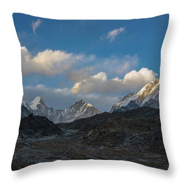 Throw Pillow featuring the photograph Heading To Everest Base Camp by Mike Reid