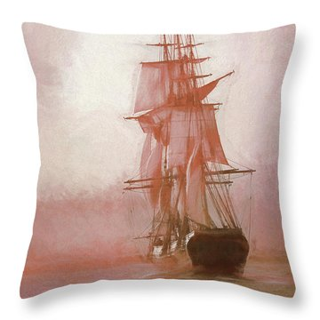 Heading To Salem From The Sea Throw Pillow