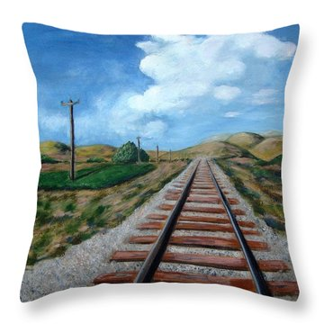 Heading West Throw Pillow by Laurie Morgan