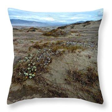Headlands Mackerricher State Beach Throw Pillow by Amelia Racca