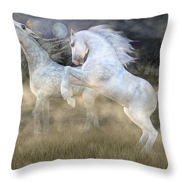 Headless Horseman Haunting On The Hill Throw Pillow