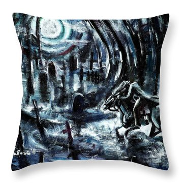 Throw Pillow featuring the painting Headless In The Hollow by Shana Rowe Jackson