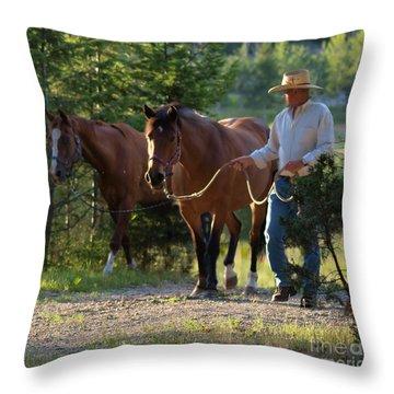Headn' Home Throw Pillow