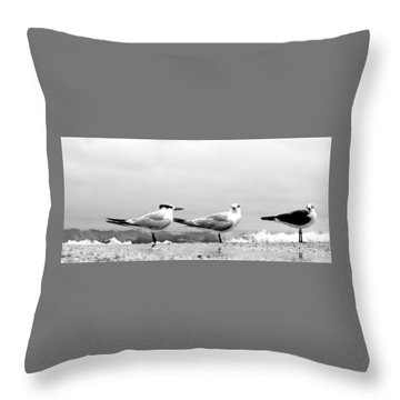 Heads Turned Throw Pillow