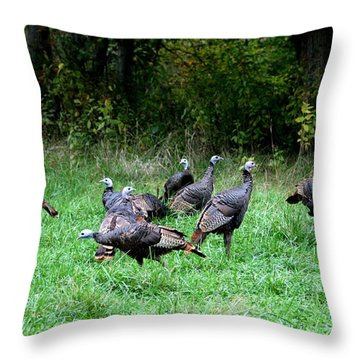 Heads Up Throw Pillow by David Dunham