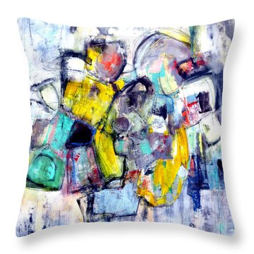 Throw Pillow featuring the painting Heads Up by Katie Black