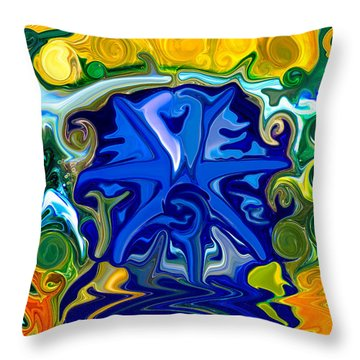 Throw Pillow featuring the painting Headwaters by Omaste Witkowski