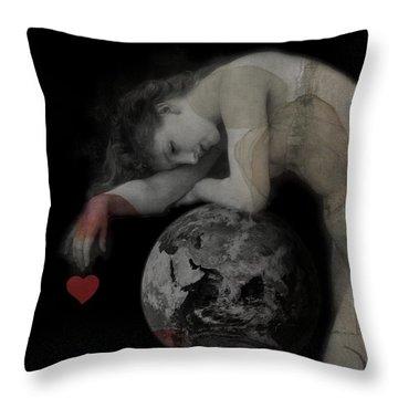 Heal The World  Throw Pillow