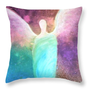Healing Angels Throw Pillow