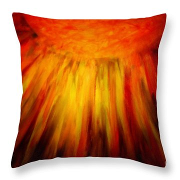Healing Balm Of The Sun Throw Pillow