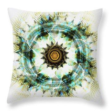 Throw Pillow featuring the digital art Healing Energy by Anastasiya Malakhova