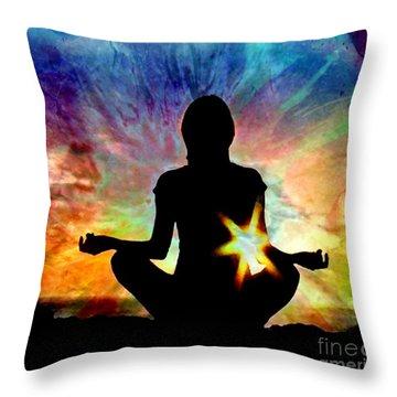 Healing Energy Throw Pillow