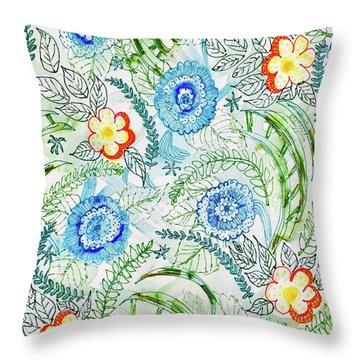 Healing Garden Throw Pillow