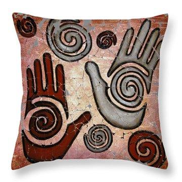 Healing Hands Fresco  Throw Pillow