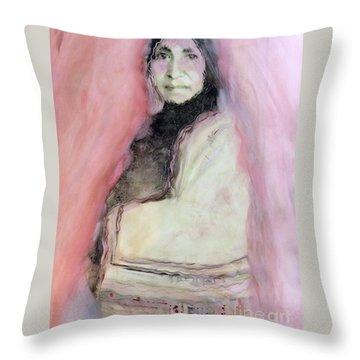 Healing Mother Earth Throw Pillow