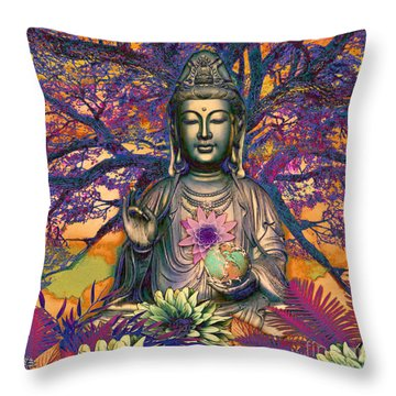 Healing Nature Throw Pillow