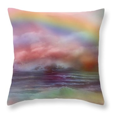 Healing Ocean Throw Pillow by Carol Cavalaris