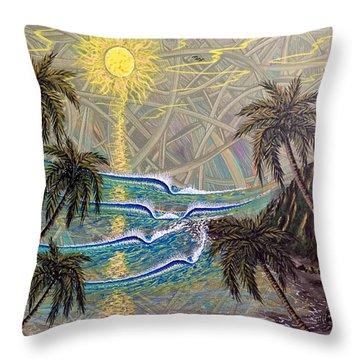 Healing Sunset Throw Pillow