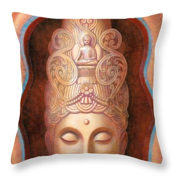 Healing Tara Throw Pillow