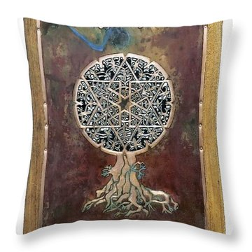Healing The Tree Of Life Throw Pillow