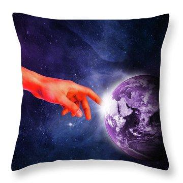 Healing Touch Throw Pillow