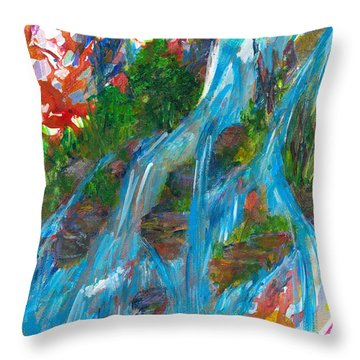 Healing Waters Throw Pillow by Denise Hoag