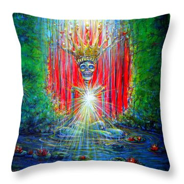 Throw Pillow featuring the painting Healing Waters by Heather Calderon