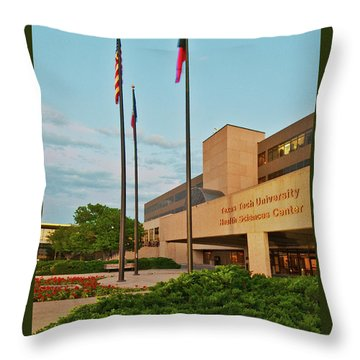 Throw Pillow featuring the photograph Health Sciences Medical Center by Mae Wertz