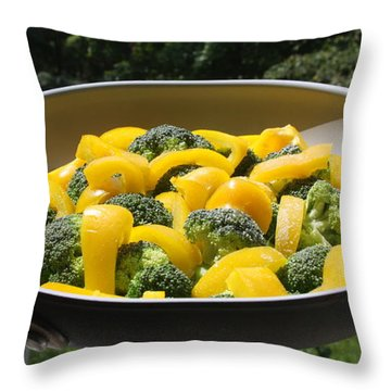 Throw Pillow featuring the photograph Healthy Breakfast by Vadim Levin