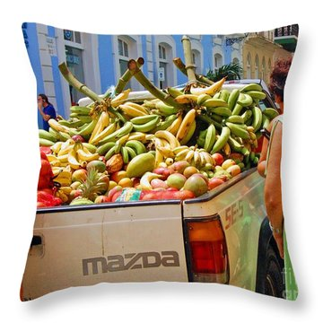 Healthy Fast Food Throw Pillow by Debbi Granruth