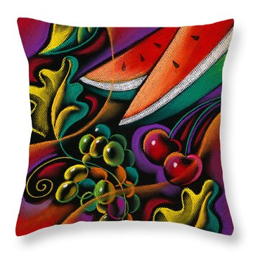 Healthy Fruit Throw Pillow
