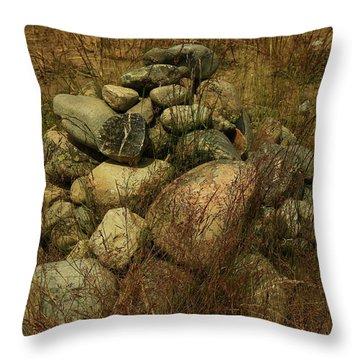 Heap Of Rocks Throw Pillow