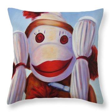 Hear No Bad Stuff  Throw Pillow