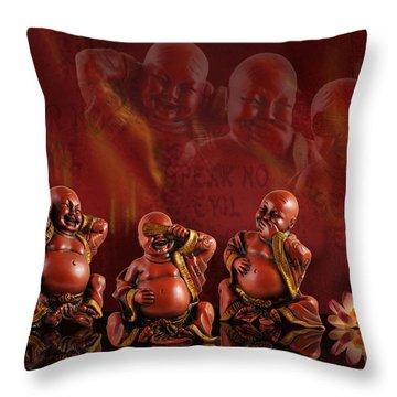 Hear No Evil Throw Pillow