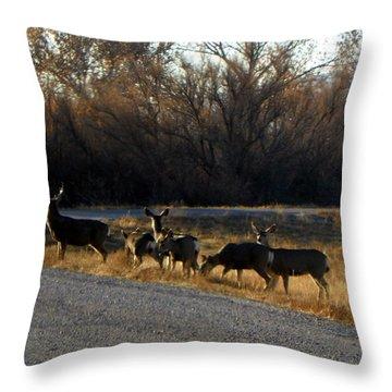 Heard Of Deer Throw Pillow
