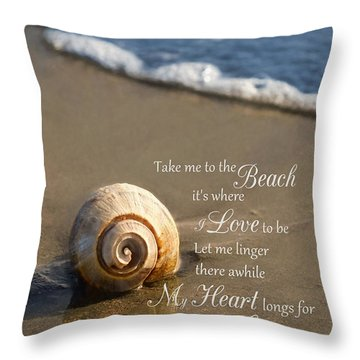 Heart And Sea Throw Pillow