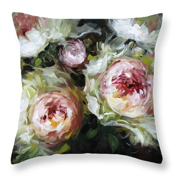Heart And Soul Peonies Throw Pillow