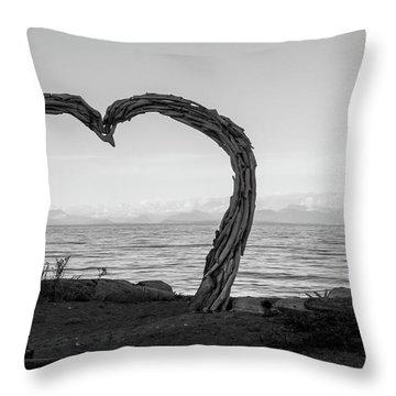 Heart Arch Throw Pillow