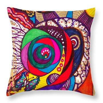 Heart Awakening - Iv Throw Pillow