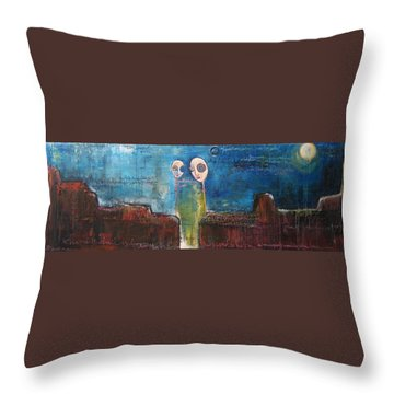 Heart Beats The Same Throw Pillow