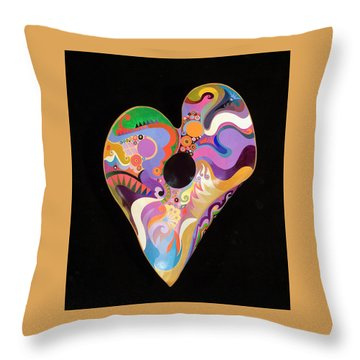 Throw Pillow featuring the painting Heart Bowl by Bob Coonts