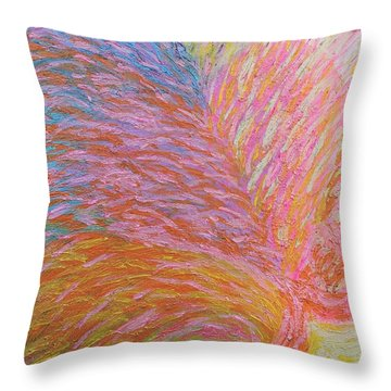 Heart Burst Throw Pillow by Rachel Hannah