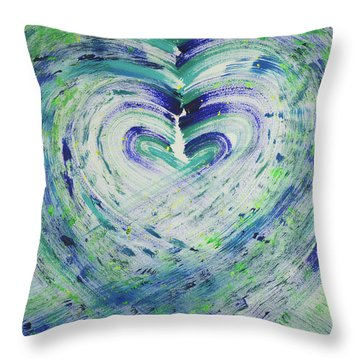 Heart Centered Peace And Love Throw Pillow