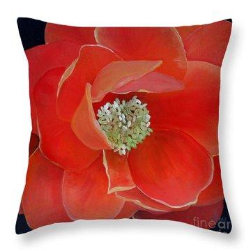 Heart-centered Rose Throw Pillow