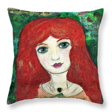Heart Chakra Throw Pillow