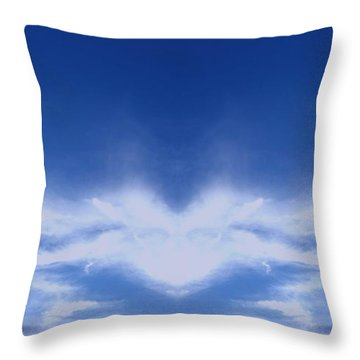 Heart Cloud Throw Pillow