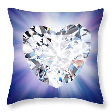 Heart Diamond Throw Pillow
