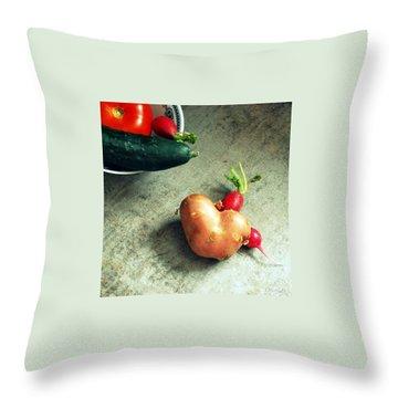 Heart For Lunch Throw Pillow by Marija Djedovic