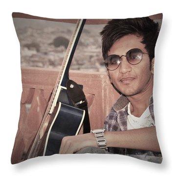 Heart Hacker..... Throw Pillow by Madhusudan Bishnoi