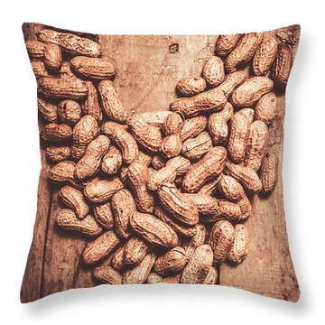 Heart Health And Nuts Throw Pillow